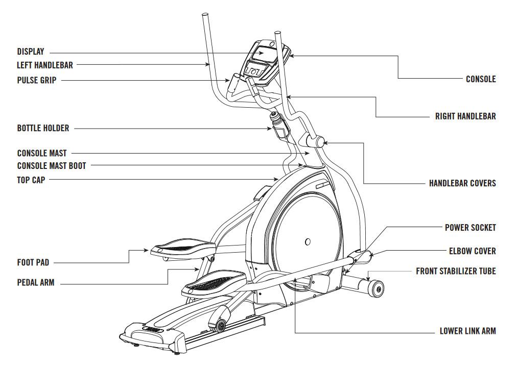 AFG 3.0AE Elliptical Body Parts