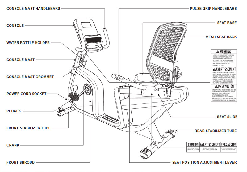 AFG 7.3AR Exercise Bike Body Parts