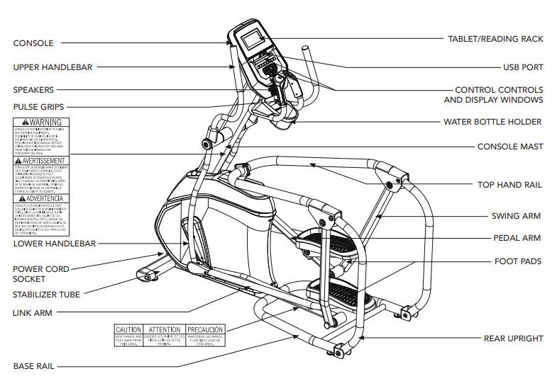 AFG Pro 7.2AI Elliptical Body Parts