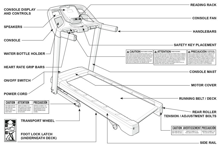 Horizon CT5.4 Treadmill Bike Body Parts