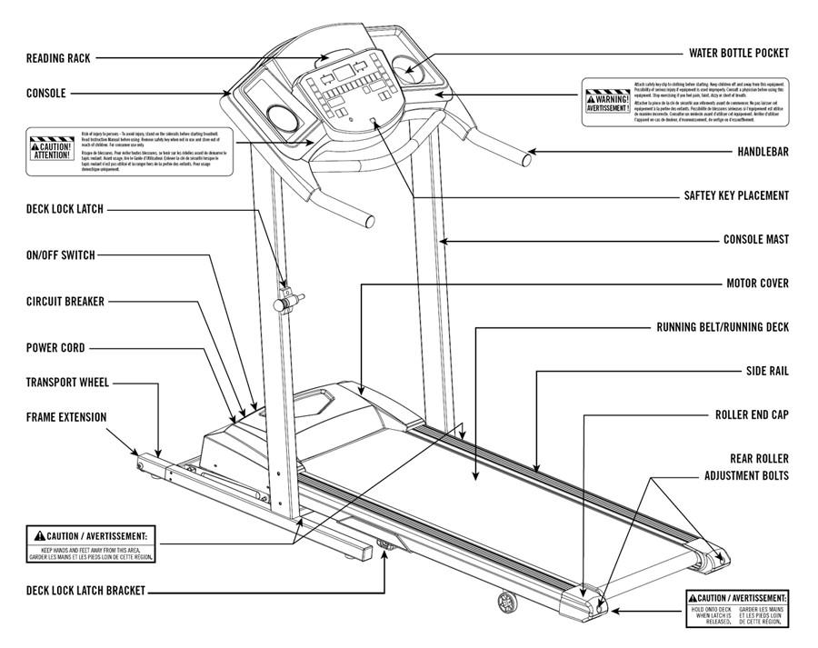 Tempo 611T Treadmill Body Parts