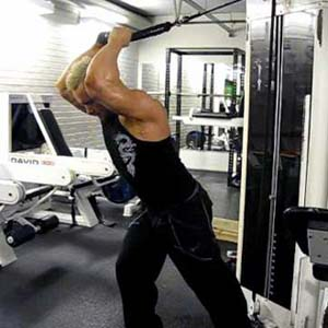 Cable Bent Over Triceps Exercise