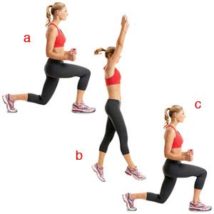 Dumbbell Stationary Lunge Exercise