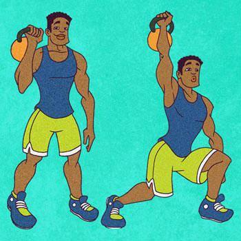 Kettlebell Split Jerk Exercise