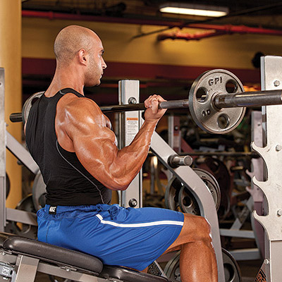 Seated Barbell Curl