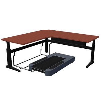 Woodway Desk-Mill Desk Treadmill