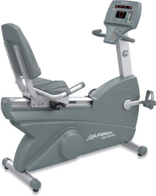 Life Fitness Club Series Recumbent Lifecycle Exercise Bike